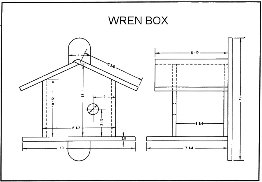 wren bird house plans. Wren Bird House Plans W